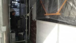 筑紫野市 外壁 塗装工事 A様邸 サイディングボード 塗装 下塗り 日本ペイント パーフェクトサーフ