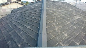 筑紫野市 A様邸 塗装工事 コロニアル屋根 高圧洗浄 完了