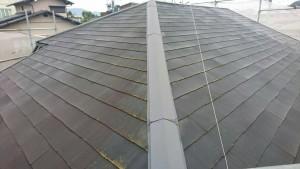 筑紫野市 A様邸 塗装工事 コロニアル屋根 高圧洗浄 施工前