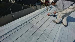 筑紫野市 A様邸 塗装工事 コロニアル屋根 塗装作業 縁切工法 タスペーサー 取付け
