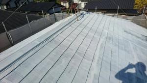 筑紫野市 A様邸 塗装工事 コロニアル屋根 塗装作業 下塗り パーフェクトシーラー 完了