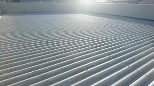 春日市 塗装工事 たんぽぽ整骨院 折半屋根 塗装 錆発生箇所 補修塗装