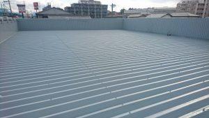 春日市 たんぽぽ整骨院 折半屋根 塗装工事 日本ペイント ファインパーフェクトベスト 仕上げ 完了