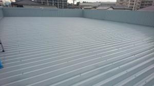 春日市 塗装工事 たんぽぽ整骨院 折半屋根 塗装 日本ペイント ファインパーフェクトベスト 2回目 完了