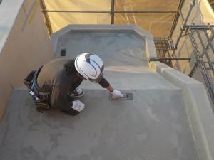 太宰府市 ベアバレー太宰府 マンション 防水工事 下地調整材 塗布 状況