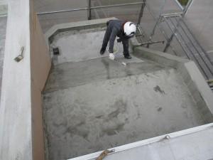 太宰府市 ベアバレー太宰府 マンション ウレタン塗膜防水工事 プライマー 塗布 状況