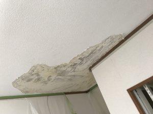 福岡県 福岡市 城南区 アパート 内部天井補修 塗装工事 施工前