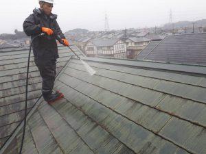 福岡県 筑紫野市 塗装工事 Y様邸 コロニアル 屋根 塗装 高圧洗浄