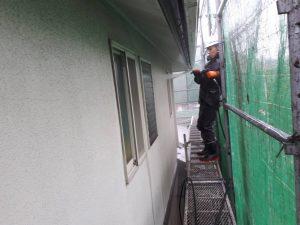 福岡県 筑紫野市 塗装工事 Y様邸 外壁 モルタル 塗装 高圧洗浄