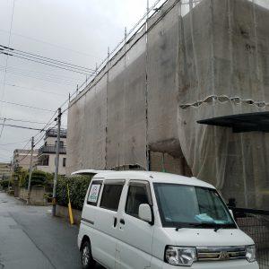 福岡市 博多区 塗装工事 戸建て住宅 塗装工事 現在施工中です。