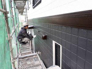 福岡県 筑後市 塗装工事 Y様邸 外壁サイディングボード パーフェクトセラミックトップG 上塗り