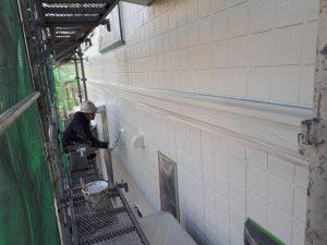 福岡県 筑後市 塗装工事 Y様邸 外壁サイディングボード パーフェクトサーフ 下塗り
