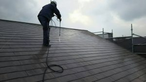 福岡県 新宮町 H様邸 外壁 屋根 塗装工事 高圧洗浄