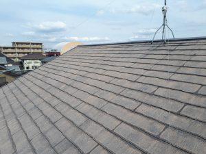 福岡県 新宮町 戸建て住宅 塗装工事 コロニアル屋根 下塗り 塗装 施工前