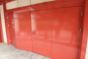 太宰府市 大宰府展示館 鉄部 塗装工事 日本ペイント ファインウレタンU100 上塗り塗装 完了
