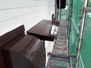 福岡県 小郡市 T様邸 塗装工事 板金 ファインパーフェクトトップ 上塗り 完了