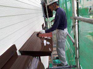 福岡県 小郡市 T様邸 塗装工事 板金 ファインパーフェクトトップ 中塗り