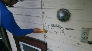 福岡県 小郡市 T様邸 塗装工事 下地 外壁 ケレン作業