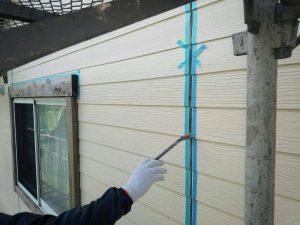 福岡県 小郡市 T様邸 塗装工事 外壁 目地 シーリング プライマー施工中