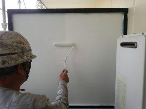 福岡県 粕屋郡 須恵町 ファーストコート アパート改修塗装工事 ベランダ 隔て板 水性ケンエース 2回目
