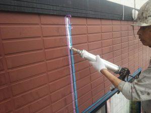 福岡県 筑紫郡 那珂川町 パティオ那珂A棟 アパート 塗装工事 下地シーリング工事 シール材充填