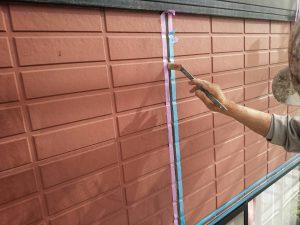 福岡県 筑紫郡 那珂川町 パティオ那珂A棟 アパート 塗装工事 下地シーリング工事 プライマー塗布
