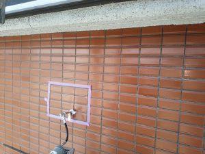 福岡市 小笹 F様邸 改修工事 磁器タイル 浮き部 エポキシ樹脂注入工法 施工中