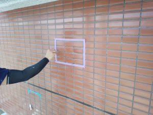 福岡市 小笹 F様邸 改修工事 磁器タイル 浮き部 エポキシ樹脂注入工法 アンカーピン挿入