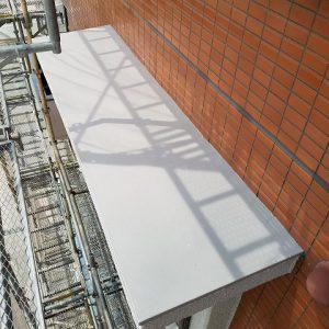 福岡市 小笹 F様邸 小庇 防水工事 ポリマーセメント系塗膜防水 施工完了