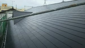 福岡県 那珂川町 パティオ那珂 外壁 屋根 改修工事 コロニアル屋根 塗装 完了