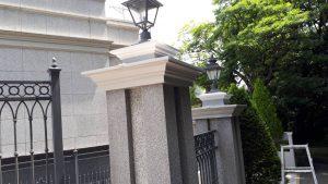福岡市 中央区 キリスト教会 外灯土台 幕板 板金 塗装工事 日本ペイント 塗料仕様 完了