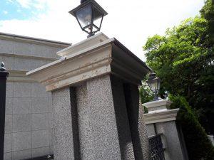 福岡市 中央区 キリスト教会 外灯土台 幕板 板金 塗装工事 施工前