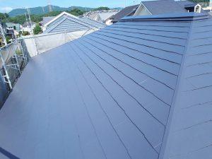 筑紫野市 Y様邸 戸建て住宅 コロニアル屋根 塗装工事 遮熱塗料 サーモアイ4F 上塗り 完了