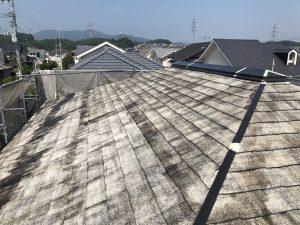 筑紫野市 Y様邸 コロニアル屋根 塗装工事 下塗り パーフェクトシーラー 1回目 完了