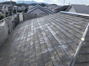 筑紫野市 Y様邸 コロニアル屋根 塗装工事 下塗り パーフェクトシーラー 2回目 完了