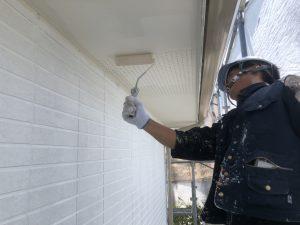 福岡県 小郡市 H様邸 住宅塗装工事 軒裏 天井 水性ケンエース 2回目