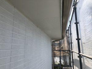 福岡県 小郡市 H様邸 住宅塗装工事 軒裏 天井 塗装 完了