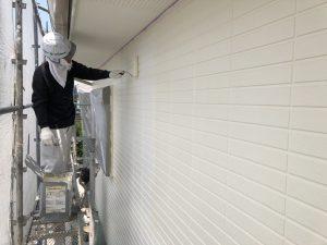 福岡県 小郡市 H様邸 住宅塗装工事 外壁塗装 パーフェクトセラミックトップG 上塗り