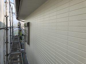 福岡県 小郡市 H様邸 住宅塗装工事 外壁塗装 パーフェクトセラミックトップG 上塗り 完了
