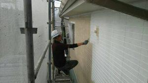 福岡県 小郡市 H様邸 住宅塗装工事 外壁塗装 パーフェクトサーフ 下塗り