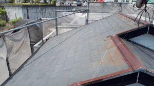 福岡県 太宰府市 U様邸 コロニアル屋根 塗装工事 施工前