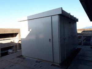 福岡県   久留米市  久留米大学 屋上 キューピクル 塗装工事 遮熱塗装 完了