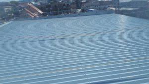 福岡県 春日市 天国社 折半屋根 塗装工事 完了
