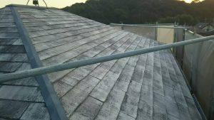 小郡市 塗装工事 Y様邸 コロニアル屋根塗装 下塗り 日本ペイント パーフェクトシーラー 下塗り施工前