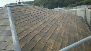 小郡市 塗装工事 Y様邸 コロニアル屋根塗装 下塗り 日本ペイント パーフェクトシーラー 下塗り 完了