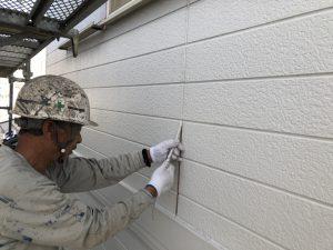 筑紫野市 H様邸 外壁塗装 下地処理 シーリング工事