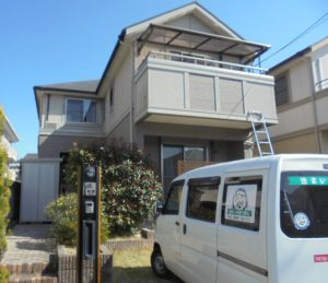 福岡県 太宰府市 G様邸 住宅  外壁 屋根 塗装工事 施工前
