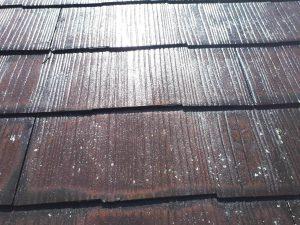 コロニアル屋根 縁切り部材 タスペーサー工法 取付け 完了