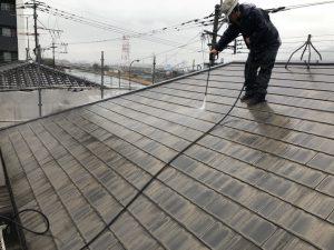 コロニアル屋根 高圧洗浄 筑紫野市G様邸