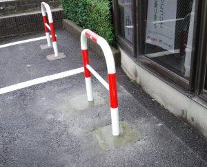 古賀市 舞いの里郵便局 駐車場 スペースガード取替え工事 完了